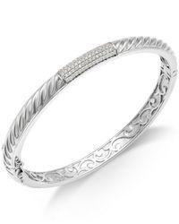 Macy's - Metallic Diamond Bangle Bracelet In Sterling Silver (1/3 Ct. T.w.) - Lyst