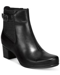 Clarks | Black Artisan Women's Rosalyn Lara Waterproof Booties | Lyst