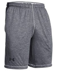 "Under Armour | Gray Men's Raid Twist Performance 10"" Shorts for Men 
