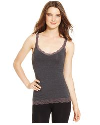 DKNY - Gray Downtown Cotton Tank 731270 - Lyst