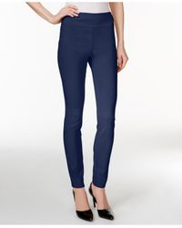 Style & Co. | Blue Tummy-control Leggings, Only At Macy's | Lyst