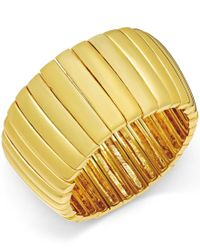 ABS By Allen Schwartz   Metallic Gold-tone Bar Stretch Bracelet   Lyst