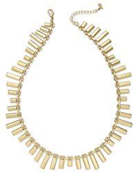 ABS By Allen Schwartz - Metallic Gold-tone Bar Collar Necklace - Lyst