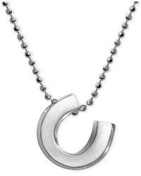 Alex Woo | Metallic Little Luck Horse Shoe Pendant Necklace In Sterling Silver | Lyst