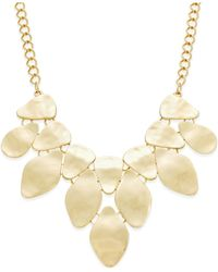 INC International Concepts - Metallic Bib Necklace, Only At Macy's - Lyst