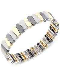 Nine West | Metallic Tri-tone Stretch Bracelet | Lyst