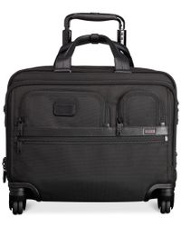Tumi | Black Alpha Deluxe Spinner Brief With Laptop Case for Men | Lyst