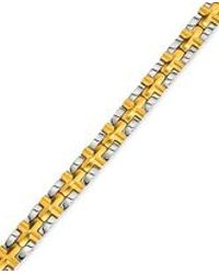 Macy's - Metallic Men's Satin Cross Bracelet In Gold-plated Ip Stainless Steel for Men - Lyst