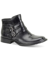 Born | Black Pirlo Buckle Booties | Lyst