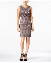 Jessica Simpson | Black Lace Sheath Dress | Lyst