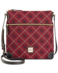Dooney & Bourke - Red Maxi Quilt Americana Signature Crossbody - Lyst
