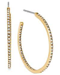 Michael Kors | Metallic Crystal Pave Small Hoop Earrings | Lyst