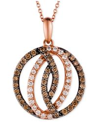 Le Vian | Red Diamond Circle Pendant In 14k Strawberry Rose Gold (1 Ct. T.w.) | Lyst
