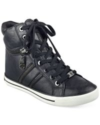 G by Guess - Black Orizze High Top Sneakers - Lyst
