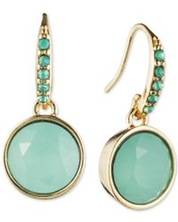 Lonna & Lilly | Blue Gold-tone Stone Earrings | Lyst