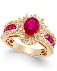 Macy's - Metallic Ruby (2-1/3 Ct. T.w.) And Diamond (3/4 Ct. T.w.) Ring In 14k Gold - Lyst