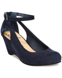 American Rag | Blue Miley Chop Out Wedges, Only At Macy's | Lyst