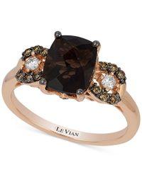Le Vian   Multicolor Chocolatier Chocolate Quartz (1-9/10 Ct. T.w.) And Diamond (1/5 Ct. T.w.) Ring In 14k Rose Gold, Only At Macy's   Lyst