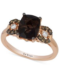 Le Vian | Metallic Chocolate Quartz (1-9/10 Ct. T.w.) And Diamond (1/5 Ct. T.w.) Ring In 14k Rose Gold | Lyst