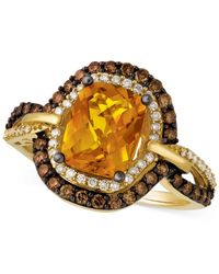 Le Vian - Metallic Citrine (1-9/10 Ct. T.w.) And Diamond (2/3 Ct. T.w.) Ring In 14k Gold - Lyst
