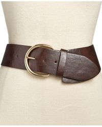 Style & Co. | Brown Asymmetrical Stretch Belt, Only At Macy's | Lyst