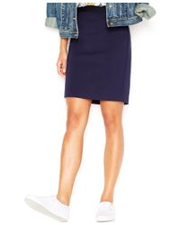 Maison Jules | Blue Frankie Pencil Skirt, Only At Macy's | Lyst