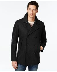 INC International Concepts | Black Double-breasted Pea Coat, Only At Macy's for Men | Lyst
