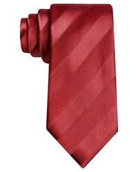 Sean John | Red Wilson Solid Stripe Tie for Men | Lyst