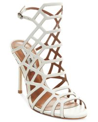 Steve Madden | Black Skales Caged Block Heel Dress Sandals | Lyst