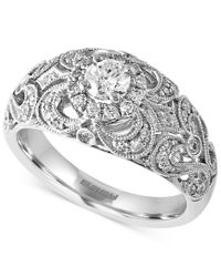 Effy Collection - Metallic Effy Diamond Vintage-inspired Ring (3/4 Ct. T.w.) In 14k White Gold - Lyst