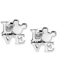 Disney | Metallic Mickey Mouse Love Earrings In Sterling Silver | Lyst