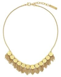 Vince Camuto - Metallic Gold-tone Fringe Disc Necklace - Lyst