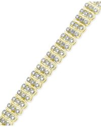 Macy's | Metallic Diamond Accent S-bracelet In 18k Gold Over Silver-plated Bronze | Lyst