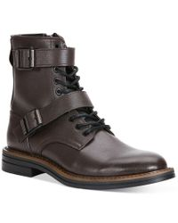 Calvin Klein Jeans | Brown Everest Double Buckle Boots for Men | Lyst