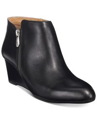 Adrienne Vittadini | Black Meriel Wedge Booties, Only At Macy's | Lyst
