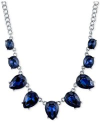 2028 | Silver-tone Blue Crystal Collar Necklace | Lyst
