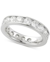 Macy's | Multicolor Diamond Channel Set Eternity Band (3 Ct. T.w.) In 14k White Gold | Lyst