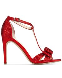 INC International Concepts | Red Women's Reesie Rhinestone Bow Evening Sandals, Only At Macy's | Lyst