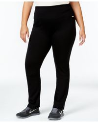 Calvin Klein | Black Performance Plus Size Pull-on Active Leggings | Lyst