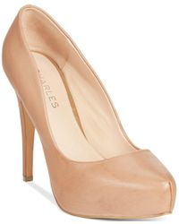 Charles by Charles David | Natural Frankie Platform Pumps | Lyst
