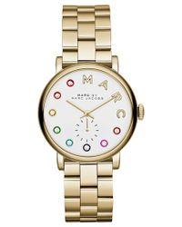 Marc By Marc Jacobs | Metallic Women's Baker Dexter Gold-tone Stainless Steel Bracelet Watch 36mm Mbm3440 | Lyst