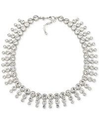 Carolee   Metallic Silver-tone Collar Necklace   Lyst