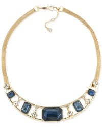 Carolee | Metallic Gold-tone Multi-stone Collar Necklace | Lyst