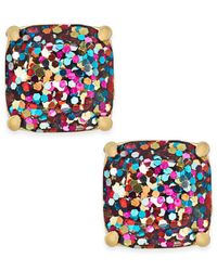 kate spade new york | Multicolor Gold-tone Small Square Glitter Stud Earrings | Lyst