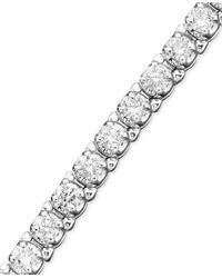 Macy's | Diamond Bracelet (3-1/5 Ct. T.w.) In 14k White Gold | Lyst