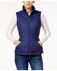 The North Face - Blue Insulated Luna Vest - Lyst