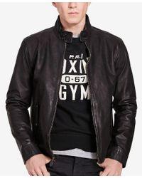Polo Ralph Lauren | Black Leather Barracuda Jacket for Men | Lyst