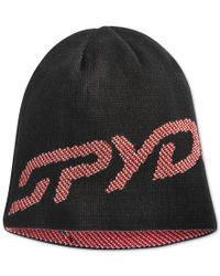 Spyder | Red Reversible Birdseye-stitched Logo Beanie for Men | Lyst
