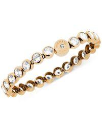 Michael Kors - Metallic Clear Crystal Bezel Set Tennis Bracelet - Lyst