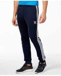 Adidas Originals - Blue Men's Superstar Training Pants for Men - Lyst
